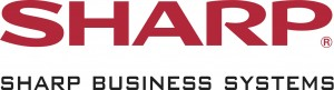 Red Sharp Logo - Black Business Systems with gap LARGE